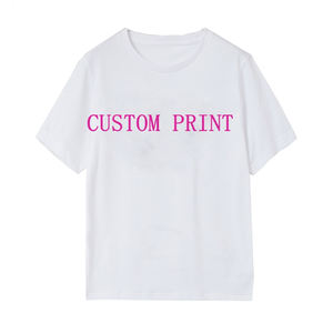 Self design T shirt custom service for men and women with custom print or embroidery
