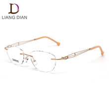 Fashion eyeglasses optical rimless glasses frames for glasses for girls