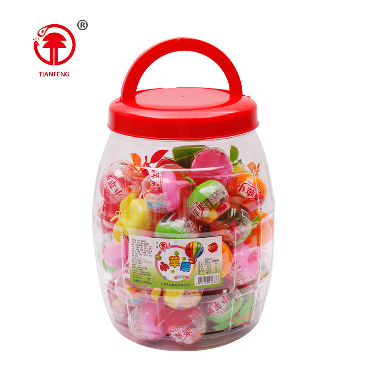 Apple vorm fruit jelly bean little candy apple in fles <span class=keywords><strong>plastic</strong></span> containers kleine gift opslag fles