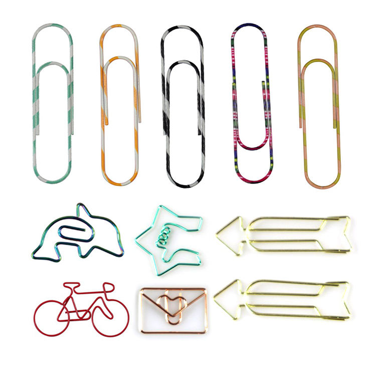 Rose gold airplane unique metal different kinds paperclip custom shape paper clips