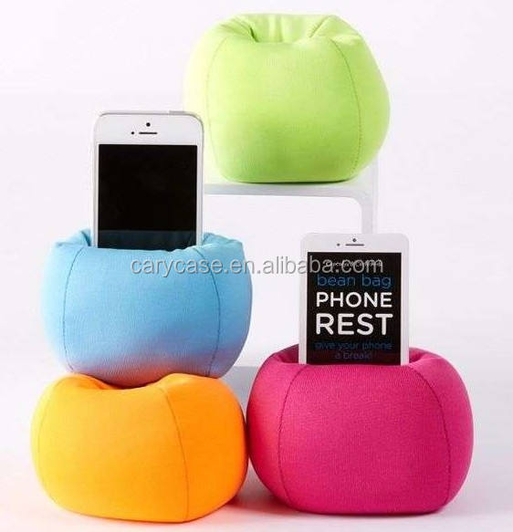 spandex with fillings Bean Bag Mobile Phone / MP3 /Desk Top Holder