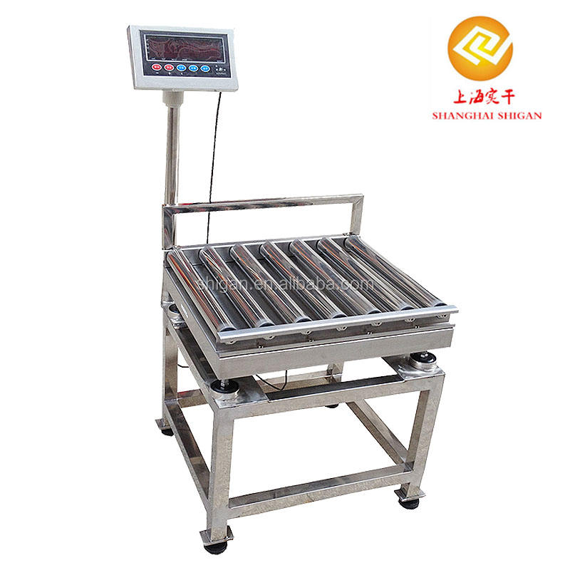 Online Alarm Clock digital static checkweigher roller conveyor scales with printer