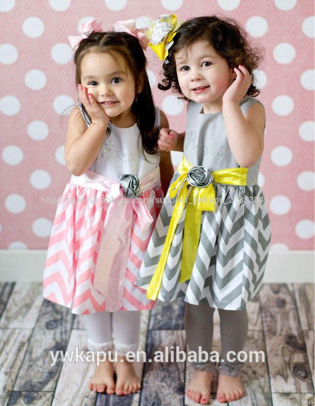chico de <span class=keywords><strong>moda</strong></span> de ropa de bebé de algodón vestido para las niñas