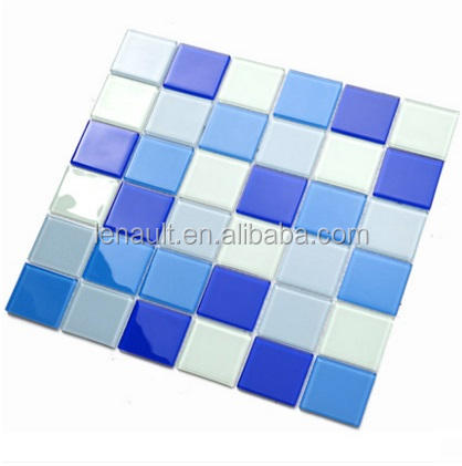 crystal glass mosaic tile for swimming pool tile price