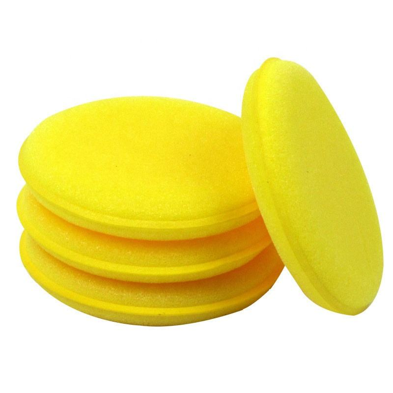 <span class=keywords><strong>Ronde</strong></span> Vormige Waxen Polish Spons Wax Applicator Pads voor Auto