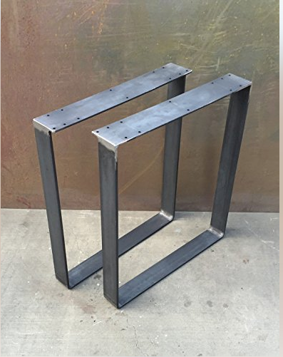 Hot sell bare finish Solid flat bar Customized Size U Shape Industrial Table Leg