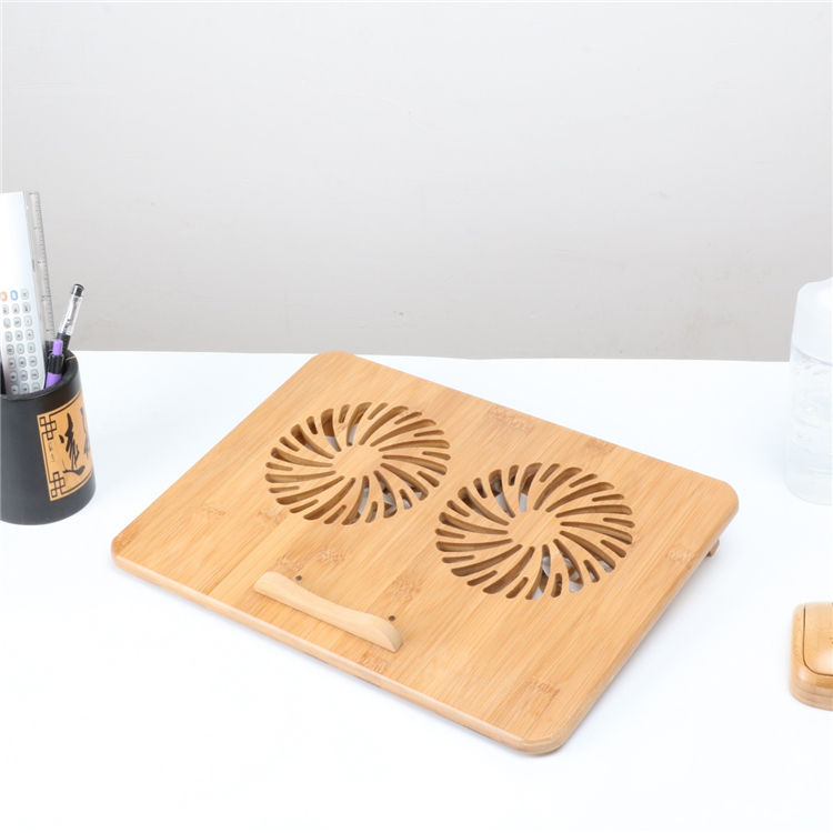 Environmentally friendly laptop cooler fan high quality laptop stand with cooling fan bamboo cooling pad laptop
