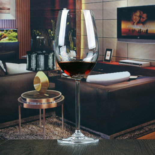 Chinese factory giant wine glass centerpiece & wine glass charms