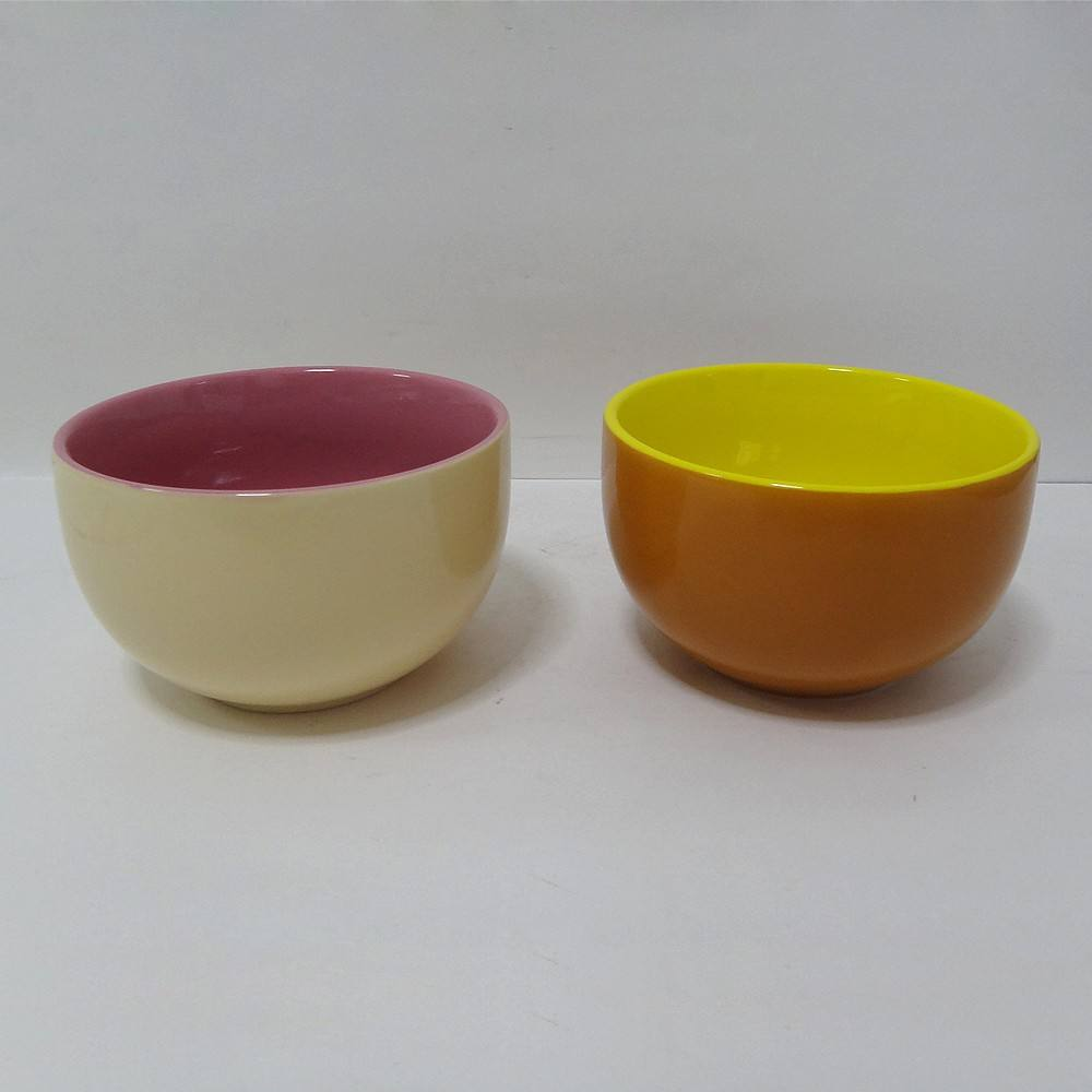 Daily cheap price foot double color bowl