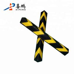 High Quality Reflective Corner Protector Rubber Corner Guard For Parking Lot Stop
