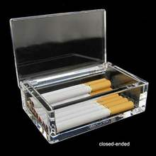 Luxury portable plastic acrylic cigarette case Custom cigarette box elegent portable acrylic smoke case
