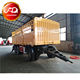 2019 China manufacture 3 Axle Fence Semi Trailer Cargo Fence Full Trailer Drawbar Trailer With Side wall