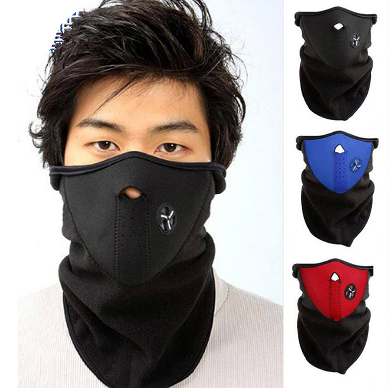 Neoprene Neck Gaiter Warm Half Face Masque Winter Veil Windproof Sport Bicycle Motorcycle Ski Snowboard Outdoor Balaclava Masque