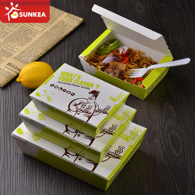 Cool decorative paper food packaging for fast food supply