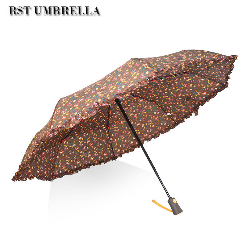 RST dreifache regenschirm pongee tragbare billig dach jaipur regenschirm