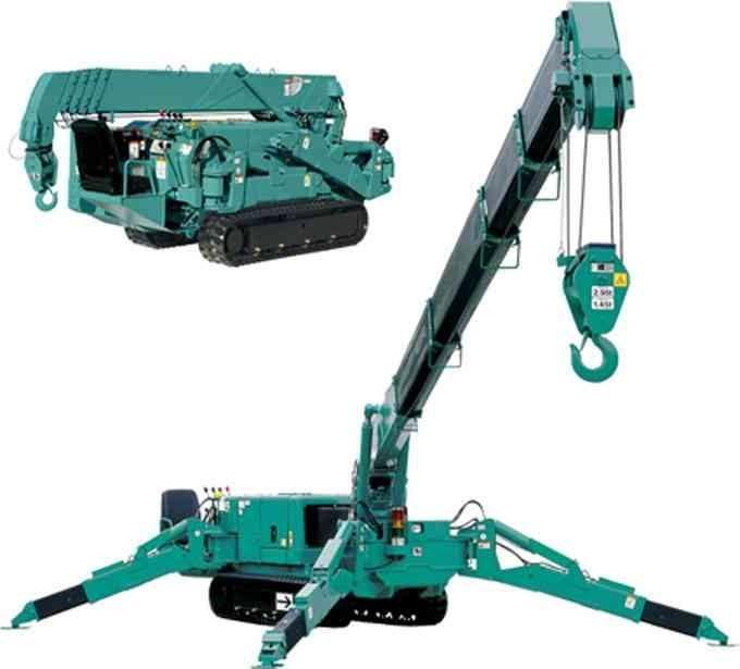 heavy duty 5ton mini Crawler crane / spider crane price for sale
