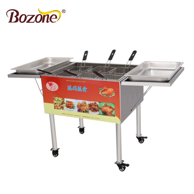 GF-6S Best Price High Quality 6 Basket Catering Deep Fryer Potato Chips Commercial Chicken Gas Fryer Fries