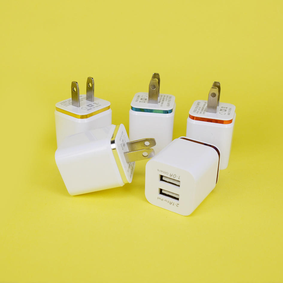 Hot sale universal wall charger newest dual usb charger , 3.1A dual usb wall charger for iphone and samsung mobile etc