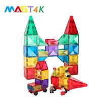 Magic magnet toy magnetic constructor magnet building tiles Stem toys