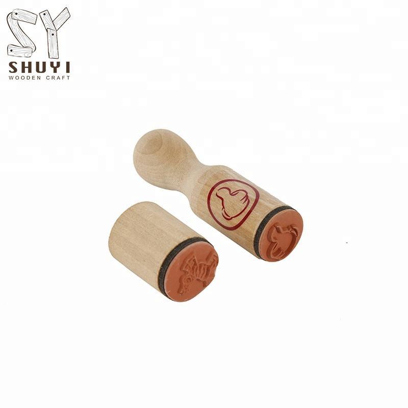 الحرف اليدوية خشبية الحبر ختم للأطفال