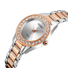 skmei 1262 silver watches woman elegant ladies modern wrist diamond quartz