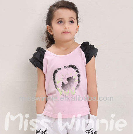 2013 baby children's T-shirt 100% cotton clothing for 9 years