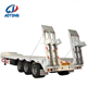 Quality warranty certificate lowboy 70tons heavy duty gooseneck 3 axles lowbed trailer in other trailers