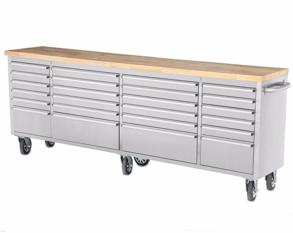 Stainless steel 96 inch large tool box