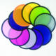 T shape Cheap customized foldable nylon round folding hand fan