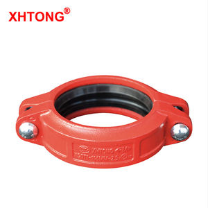 FM UL Approval Ductile Iron Grooved Rigid Coupling Pipe Fittings For Fire Fighting Piping Delivery Usage