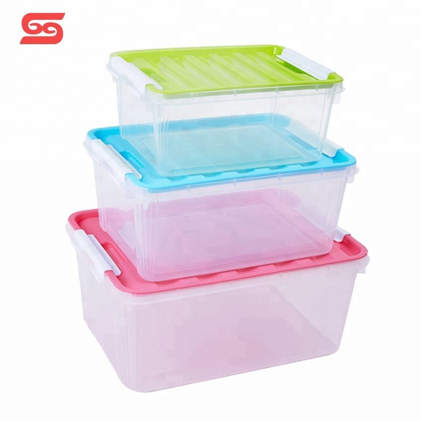 9L-25L claler tool airtight stackable plastic kitchen storage boxes with lid