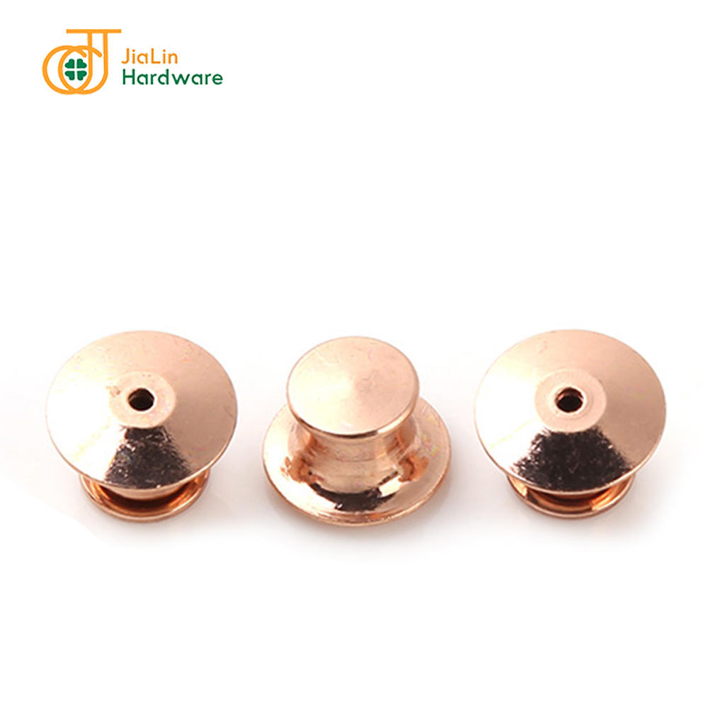 Bulk price brass clutch pin backs silver gold rose gold locking pin keepers backs for brooch