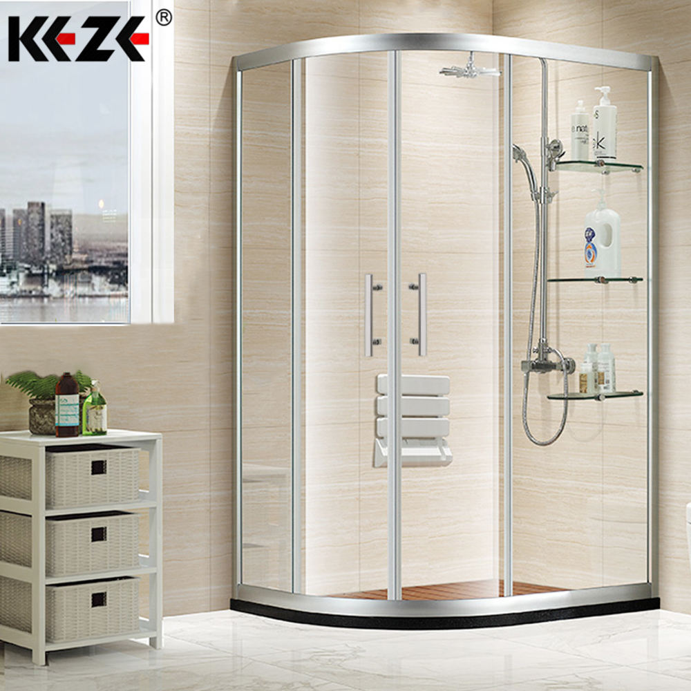 Dubai bathroom cheap free standing sliding glass lowes shower enclosure