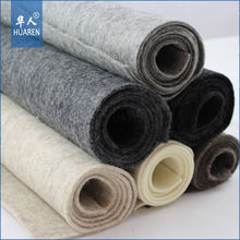 density from 0.1g /cm3 to 0.5g/cm3 nonwoven fabric 3mm to 50mm thickness merino 100% wool felt for industrial