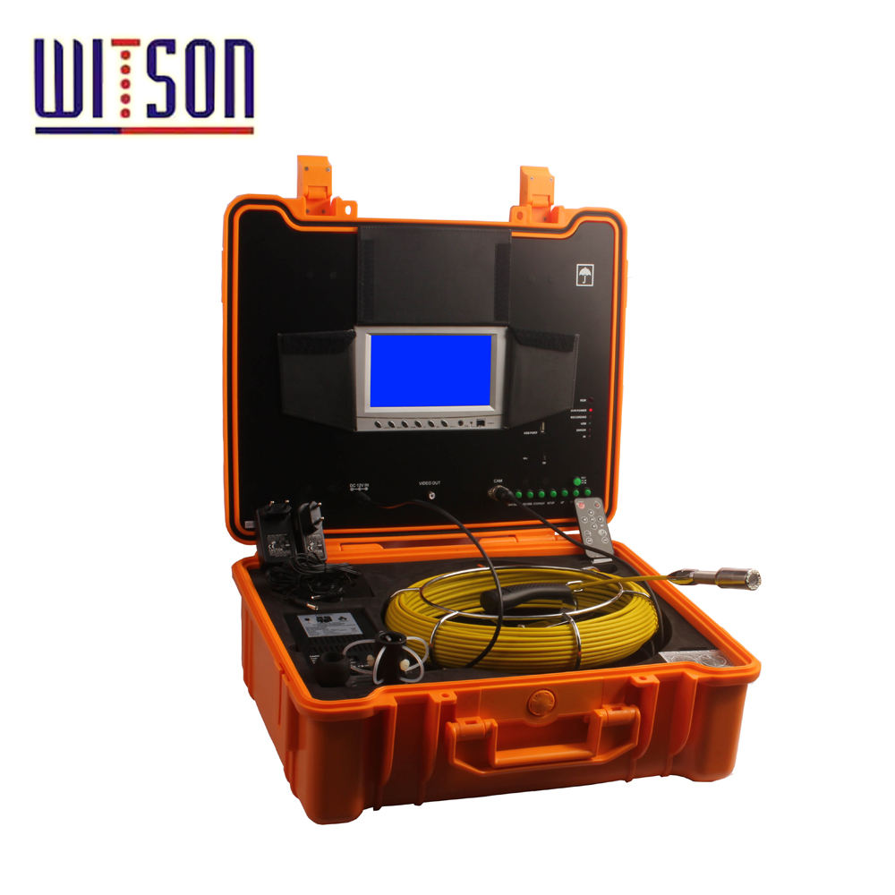 WITSON Video Snake Pipe & Wall Inspection System with digital OSD meter counter