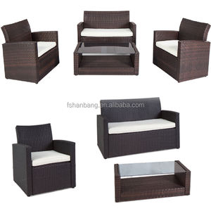 Australia Hotsale Knock down Gardenia Rotan Outdoor Furniture Wicker Patio Sofa Set