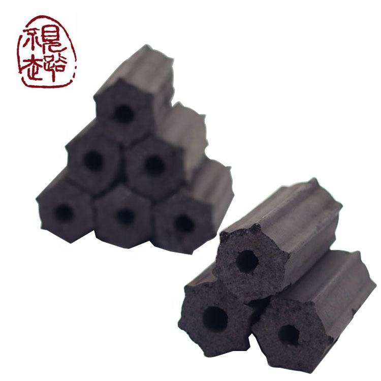 Restaurant smokeless bulk hardwood sawdust hexagon briquette charcoal