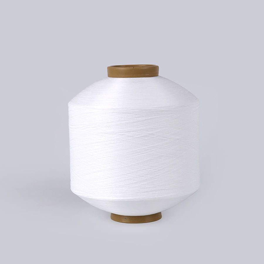 50denier 50D/150TPM DTY SD semi dull RW WHITE polyester CATION yarn twisting weaving yarns for fabric
