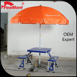 High quality feamont Foldable back support folding beach chair with beach umbrella cover