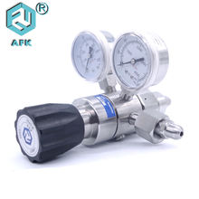 High Pressure Stainless Steel medical oxygen gas regulator double