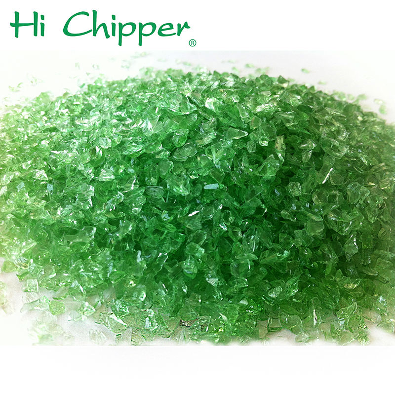 Artificial Marble Crushed Recycled Dark Green Glass Chips