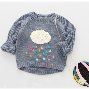 O Neck Handmade Children Wool Cheap Christmas Sweater For Kids With High Quality