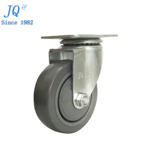 100mm grey pu bearing swivel caster wheel for Supermarket trolley cart