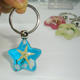 Sea Life Starfish In Resin Silver Key chain