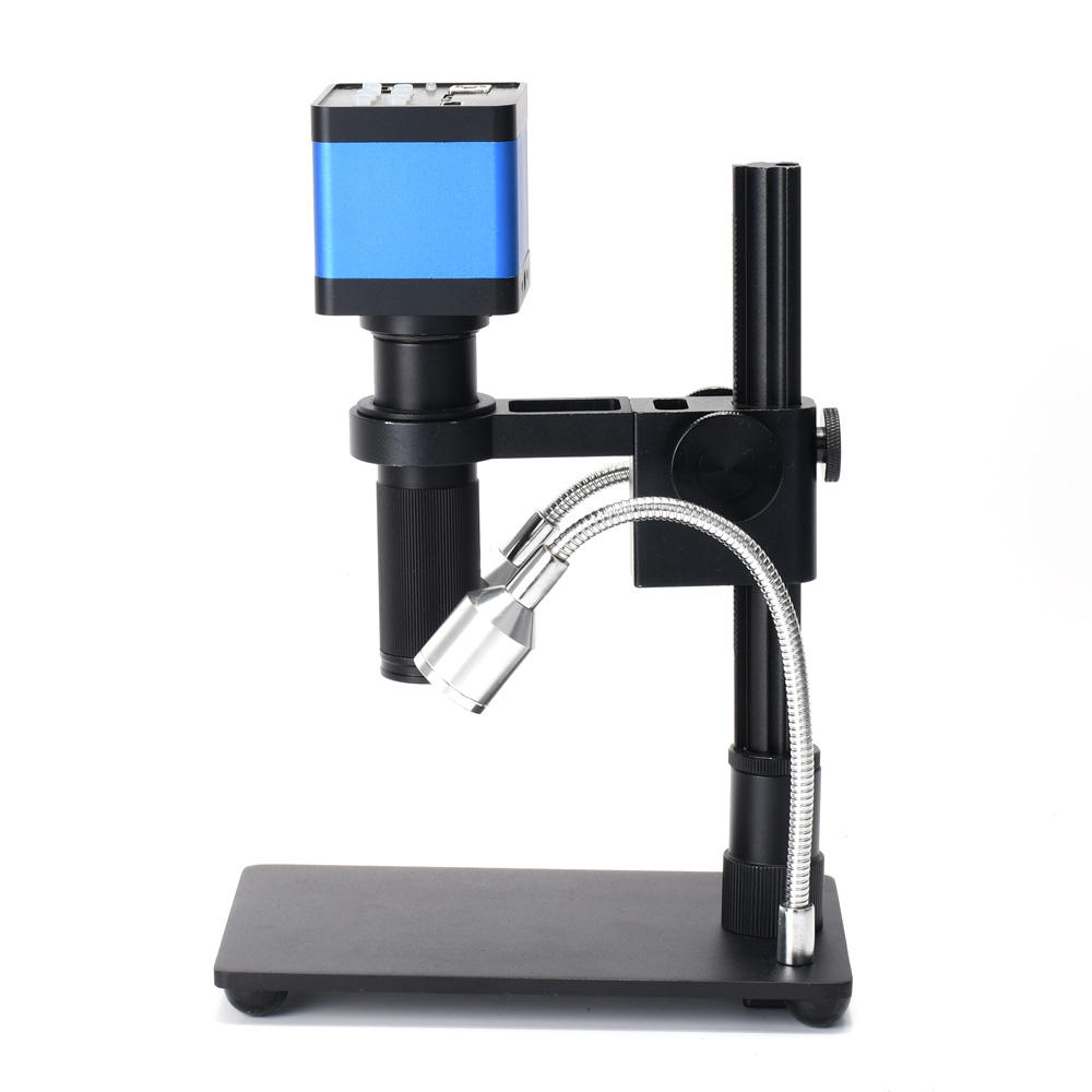 HDMI USB 37MP 1080P TF Video Recorder Microscope Camera + MINI Stand + 150x C Mount Zoom Lens For Lab PCB IC BGA Repair