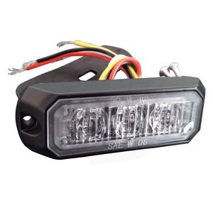 Luz estroboscópica de advertencia de policía 3LEDs 9W luces led Parrilla de emergencia