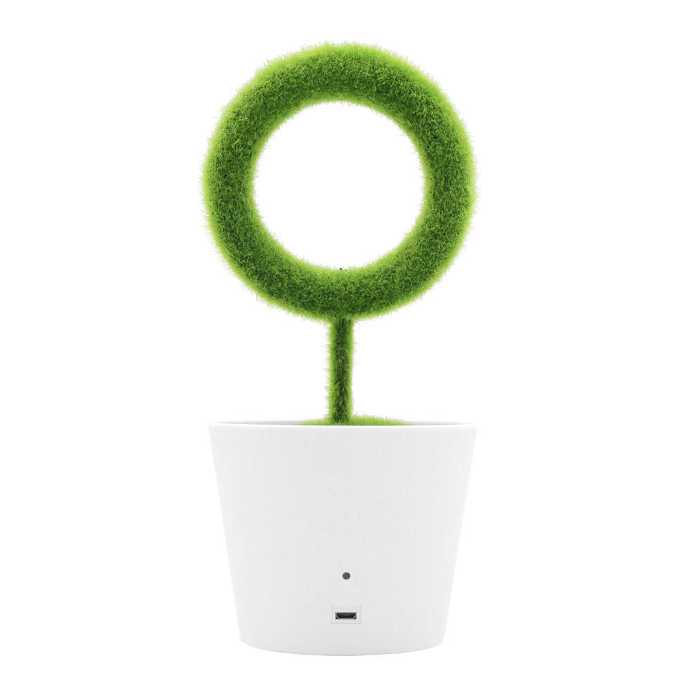 Ionkini JO-732 Indoor House Office Home PM2.5 Purifiers Mini Ionizer Air Cleaner Room Green Plant Pot Desktop Air Purifier
