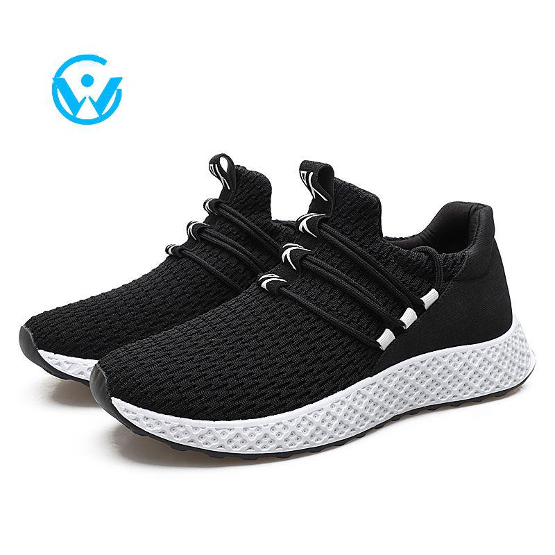 Spring and summer breathable mesh men shoes 2019 wild casual pure color matching walking sneakers
