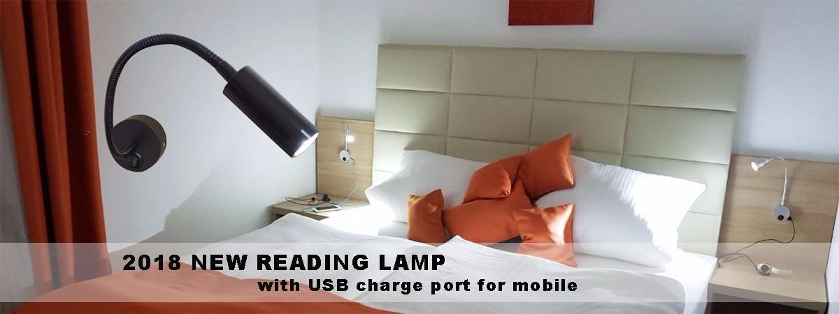 Moda USB//Battery Power Clip en LED Table Desk Lamp Light 28 LED Bedside Book Reading Lamp en la Cama