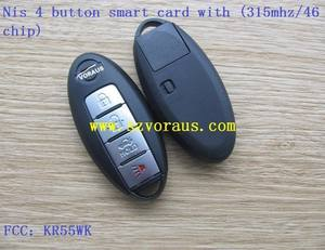 Nis 4 taste smart card remote key fob KR55WK48903 (315 mhz/46 chip)